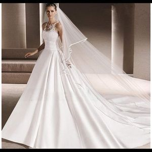 Two tier cathedral veil
